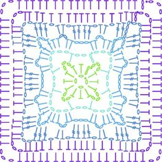 Motif 3 chart, Violet, on the LoveCrochet blog