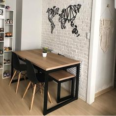 The latest trends, the newest styles, ah, this is what makes the world go around. Contemporary dining room sets can … Furniture Dining Table, Modern Dining Table, Wooden Furniture, Furniture Design, Furniture Legs, Barbie Furniture, Farmhouse Furniture, Small Space Furniture, Antique Furniture