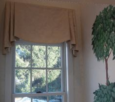 Pleated side-convex center valance, unique valance option. window valance