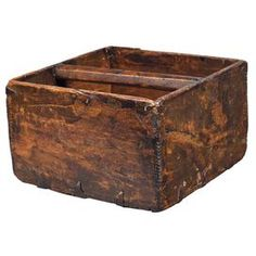 Distressed square wood planter.   Product: PlanterConstruction Material: WoodColor: Natural   Features:  Distressed  Dimensions: 7.5 H x 11.5 W x 11.5 D