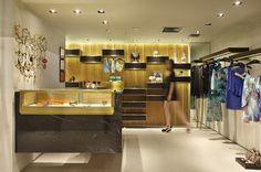 Design de interiores, projeto comercial. Loja Afghan, shopping Nova América. Ano 2014. Retail - Shop Spaces - Rio de Janeiro