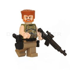 Lego Custom The Walking Dead Abraham Ford with custom made machine gun, holster and pistol. by Demonhunterbricks on Etsy