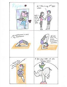 rejoyce yoga cartoon bhujangasana  cobra pose  yoga