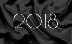 Indir duvar kağıdı 2018 Yeni Yıl, siyah ipek, 2018 kavramlar, Yeni Yıl, kumaş dokusu