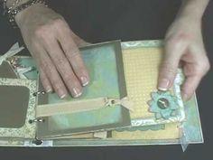 Fabulously Artsy -- Slide-out pocket page (Mini Scrapbook, part 4)