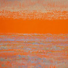 "Saatchi+Online+Artist+Ken+Resen;+Painting,+""Orange+Sky""+#art"