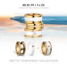 Arctic Symphony Collection; Rings for women; BERING; Twist & Change