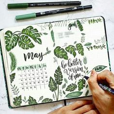 ay is here ! How cute is this tropical vibes monthly page ? 😍 By Henry Phung … ay is here ! How cute is this tropical vibes monthly page ? 😍 By Henry Phung . Check out our tropical vibes collection 🌴 and much Bullet Journal School, Bullet Journal Month, Bullet Journal Aesthetic, Bullet Journal Notebook, Bullet Journal Themes, Bullet Journal Spread, Bullet Journal Inspiration, Journal Ideas, Art Journaling