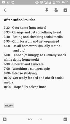 Y'all!!! I didn't know how important it was to have an after school routine. Like this shit right here will save your ass and make you earn good grades. Obviously you can't always follow someone else's routine. But there are a few you can choose from and adjust it accordingly, and here's mine if you'd like to use it. But you can also create your own.