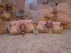 Romantic Victorian Beaded Soaps Special Pair-