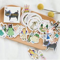 Forest Animal Flake Stickers Stationery Organizer Diary Deco Stationary Planner #Unbranded