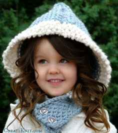 The Arctic Baby Hood Knitting Pattern