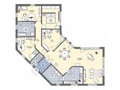 Smallest 3 bedroom house plan floor plans small houses bungalow villa log home design ideas Round House Plans, House Floor Plans, Building Plans, Building Design, Key West Style, Earthship Home, Log Home Designs, Bedroom House Plans, House Layouts
