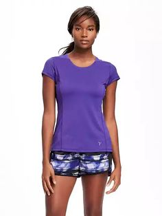 Old Navy Semi Fitted Go Dry Cool Running Tee For Women Size L Tall – Purple rain. Tall Clothing for Tall Women at PrettyLong.com Clothing For Tall Women, Tees For Women, Purple Rain, Maternity Wear, Running Shorts, Sport Outfits, Active Wear, Old Navy, Atypical