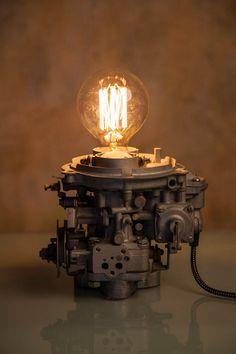 Carburetor lamp / Industrial Lamp /Vintage lamp / by LUMENworkshop