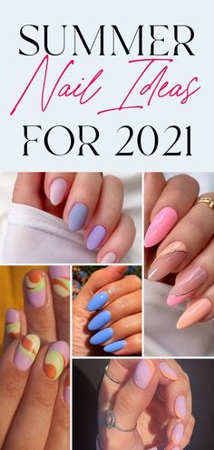 Almond Nails Designs Summer, Coffin Nails Designs Summer, Cute Summer Nail Designs, Nail Colors For Summer, Round Nail Designs, Bright Summer Gel Nails, Nail Ideas For Summer, Acrylic Nail Designs For Summer, Chic Nail Designs