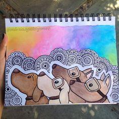 Está es una colaboración con @jahziel_andrade ❤️ síganlo si aún no lo hacen,hace dibujos muy lindoosss Elegimos dibujar a los perros rescatistas ❤️por su gran trabajo Espero y sea de su agrado ❤️ #fuerzamexico . . .se llaman titán,Frida,evil y eco . . . . . . . . . . . . . . . . . . . . . . . . . . .inspirado en @garabujos_gusgux ❤️ #arteconvale #zentangle #mandala #perrosdeinstagram #perrosrescatistas #animales #zentangleinspiredart #ccuellar #dianainspira #zentanglecondani #zentanglecon...