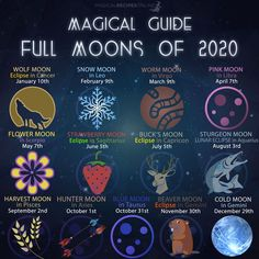 Magical Guide to Full Moons of 2020 - Magical Recipes Online Magical Guide to Full Moons of 2020 - Magical Recipes Online Full Moon In Cancer, Full Moon In Libra, Cancer Moon, Scorpio Moon, Moon Astrology, Full Moon Cycle, Full Moon Phases, Next Full Moon, Full Moon Spells
