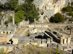 Greek ruins at the holy spring, Glanum.