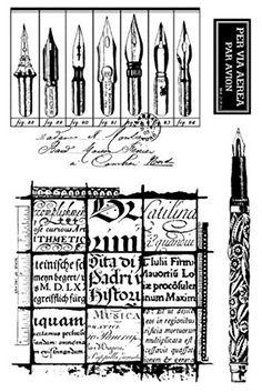Stampington & Co Quill Writing Cling Rubber Stamp Set Vin... https://www.amazon.com/dp/B01C7WIJ4M/ref=cm_sw_r_pi_dp_x_B4sIyb0FCNKMX