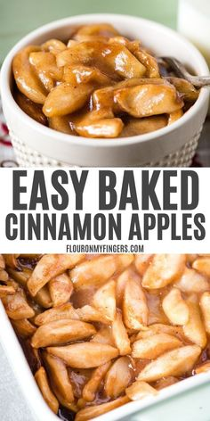 How to make the most delicious baked cinnamon apples. Easy dessert recipe with apple slices brown sugar nutmeg and a special secret ingredient. Baked Cinnamon Apples, Cinnamon Recipes, Cooked Apples, Baked Apples Healthy, Apple Cinnamon, Baked Apple Dessert, Apple Dessert Recipes, Easy Desserts, Baked Fruit Recipe