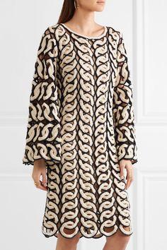 Chloé - Crocheted Cotton Dress - Navy