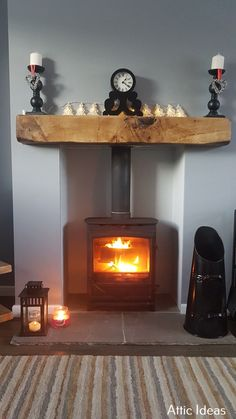 Wonderful Totally Free Fireplace Remodel 2019 Style Attic Remodel Vorher und Na. Wood Burner Fireplace, Inglenook Fireplace, Home Fireplace, Fireplace Remodel, Fireplace Design, Living Room With Fireplace, Fireplaces, Cottage Fireplace, Bedroom Fireplace