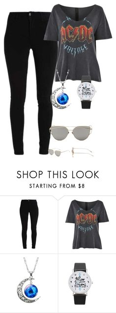 """""""galaxy space necklace"""" by fab-life-939 ❤ liked on Polyvore featuring Topshop"""