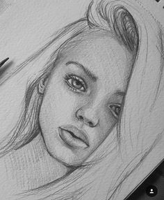The post appeared first on Woman Casual - Drawing Ideas Girl Drawing Sketches, Cool Art Drawings, Portrait Sketches, Pencil Art Drawings, Drawing Ideas, Pencil Portrait Drawing, Drawing Hair, Drawing Clothes, Bio Art