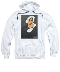 Patrick Francis White Designer Hooded Sweatshirt featuring the painting Portrait Of A Woman With Red Ribbon 2014 - After Vincent Van Gogh by Patrick Francis Hoodie Sweatshirts, Hoodies, White Caps, White Hoodie, Red Ribbon, Vincent Van Gogh, Studio, Graphic Sweatshirt, Portrait