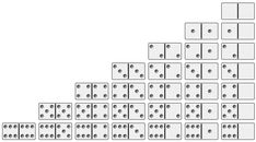 domino games: number of tiles needed for a double 6 set of dominoes domino games: number of tiles ne Yard Games, Math Skills, Math Classroom, Numbers, Diy Wedding, Lawn, Tiles, Track, Beads