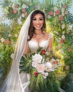 Cassey Ho: Wedding Day by daekazu on DeviantArt Wedding Art, Wedding Looks, Cassey Ho, Pink Sugar, Popular Art, Art Challenge, Beautiful Artwork, That Way, Pin Up