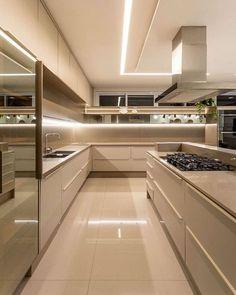 Home Room Design, Luxury Kitchens, Kitchen Decor Modern, Kitchen Inspiration Design, Kitchen Room Design, House Interior, Kitchen Furniture Design, Modern Kitchen Design, Home Interior Design