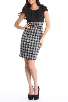 Houndstooth Dress.