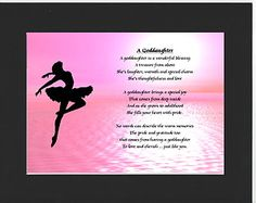 PERSONALISED GODDAUGHTER POEM – MOUNTED     BALLERINA  DESIGN         On offer here is this wonderful poem about a goddaughter personalised with your goddaughters details on  the  background featured.