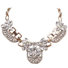 Statement Antique Necklace Vintage Crystal Necklace – Jane Stone