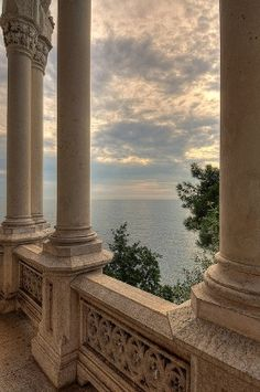 Pillars and a view