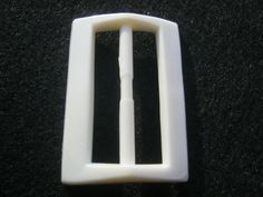 10 Stück Gürtelschnallen ohne DornWeiß ca.50/33 von Knopfshop
