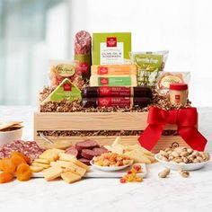 Gourmet Gift Baskets - Harvest Snack Box Hickory Farms, Gourmet Gift Baskets, Snack Box, Meat And Cheese, Thanksgiving Gifts, Sweet And Salty, Corporate Gifts, Gifts For Him, Harvest
