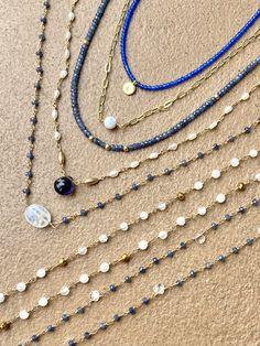Beaded gemstone necklace. Layering necklace. Semi orecious stone necklace