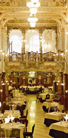 Visit the opulent cafe in Boscolo #Budapest while in Hungary.