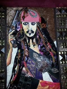 My mixed media art Johnny Depp Captain Jack Sparrow