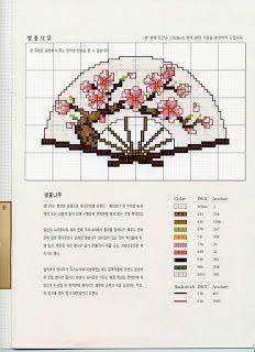 MÁS PUNTO DE CRUZ: Japón. Fan collection.