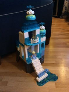 Queen Elsa's Ice Castle from Frozen made with Lego Duplo