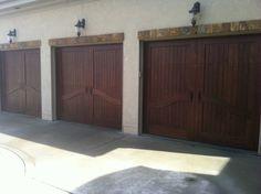Garage Doors - Wood Creations Wood Garage Doors, Wood Creations, Home Projects, Eye, Outdoor Decor, Furniture, Home Decor, Wooden Garage Doors, Decoration Home