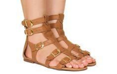 Gladiadora baixa caramelo Taquilla - Taquilla - Loja online de sapatos femininos