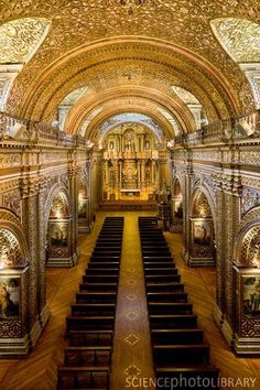 La Compania Jesuit Church in Quito, Ecuador - This is the most beautiful church I've ever stepped foot in.