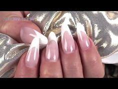 """Nailart """"White French"""" mit LAVENI - YouTube"""