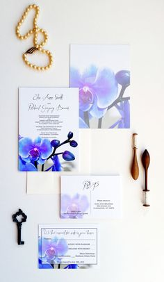 WEDDING INVITATION SUITE, unique design, professionally printed, and completely customizable around YOU! We can also match to these designer