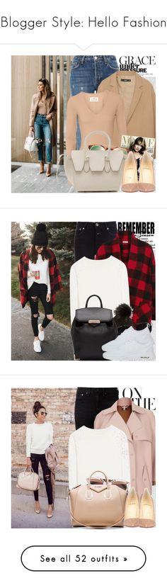 """Blogger Style: Hello Fashion"" by chocolatepumma ❤ liked on Polyvore featuring Oris, Topshop, MANGO, Maison Margiela, Valentino, CÉLINE, Christian Louboutin, Closed, Étoile Isabel Marant and Alice + Olivia"
